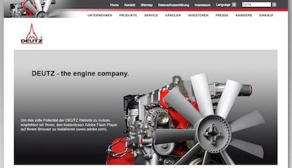 Screenshot Website Deutz