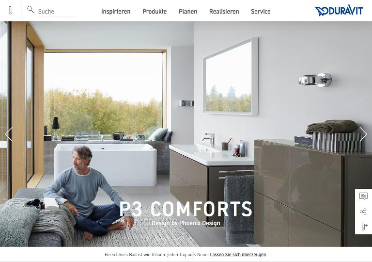 Screenshot Website Duravit