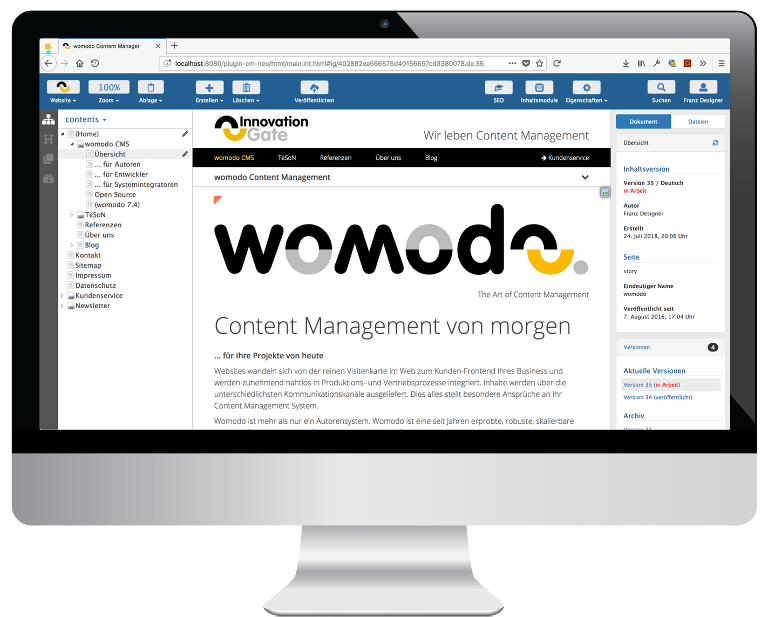 womodo Content Manager