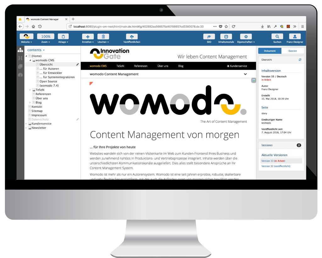 Next Generation womodo Content Manager