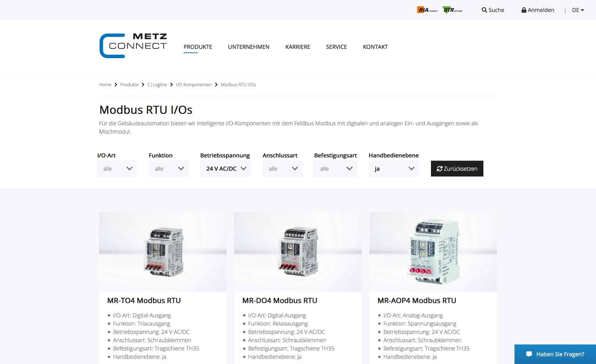METZ CONNECT Website Relaunch mit womodo CMS